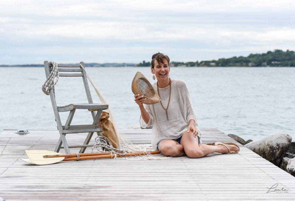 Ritratto fotografico di Corinna, sul Lago di Garda