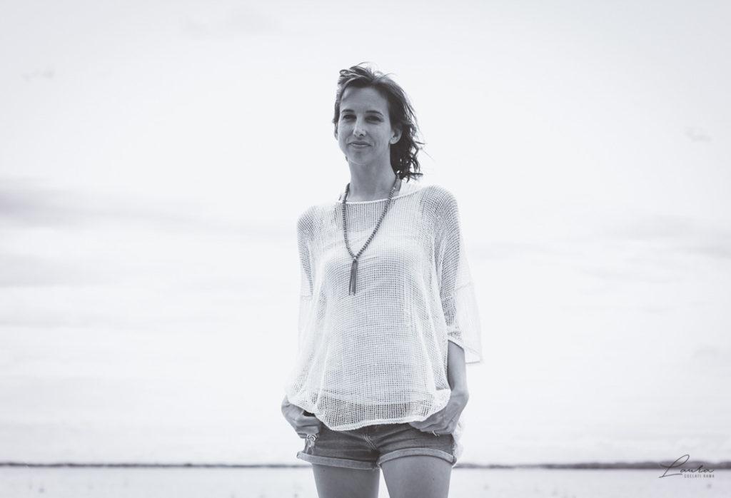 Fotografia di Corinna in bianco e nero