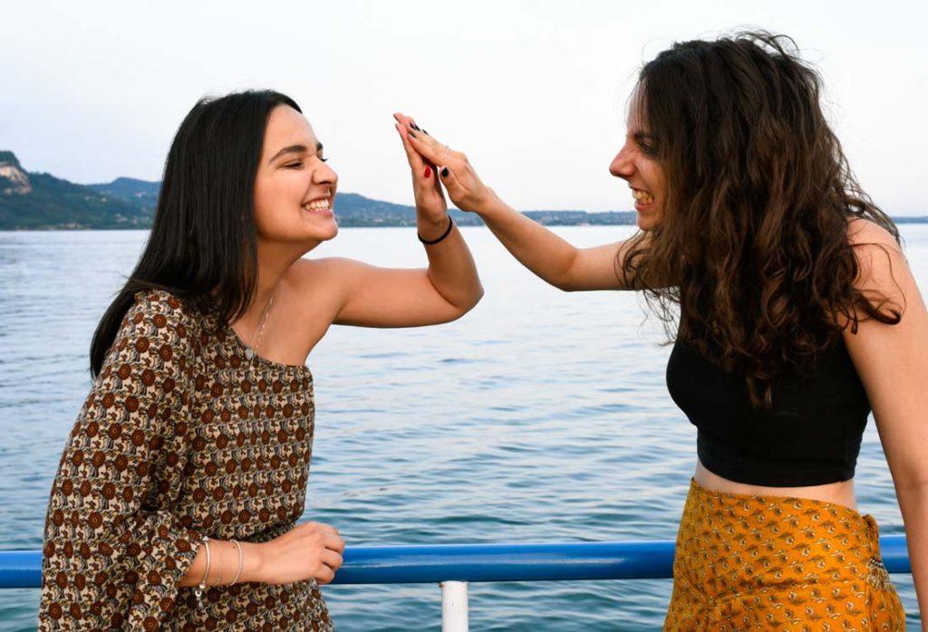 Foto di Martina insieme alla sua amica Emma